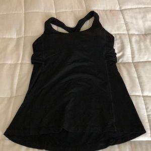 Lululemon black workout tank w/ built-in bra